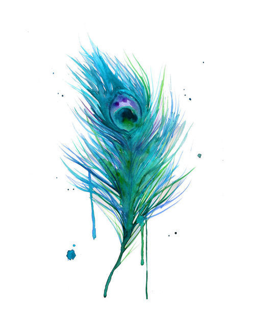 Peacock feather paintings - photo#9